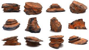 martian rocks pack 10 model