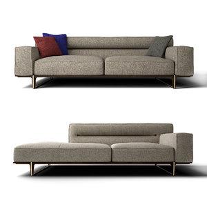 3D model sectional sofa