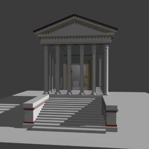 3D roman temple augustus livia