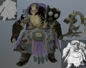 3D character unity engines model