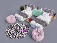 Revit children bedroom 3D model
