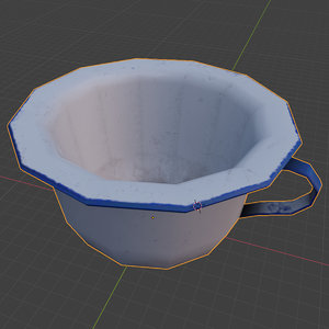old metal potty 3D model