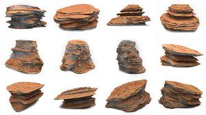 martian rocks pack 10 3D model