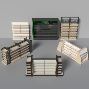 market shelving 3D model
