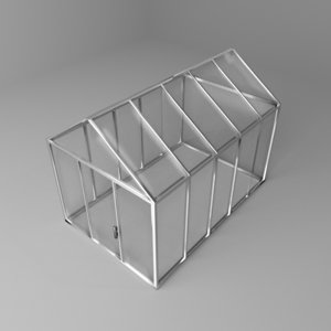 3D gable greenhouse model