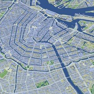3D amsterdam building