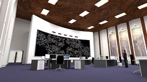 national control center room 3D