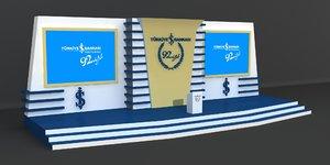 stage decoration model