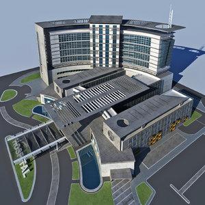 3D modern design hospital
