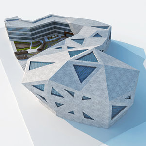 3D modern design conceptual deconstruction