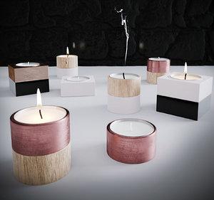 candle set 3D model