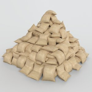 3D bag container model