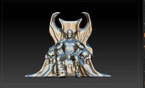 3D model spawn statuette