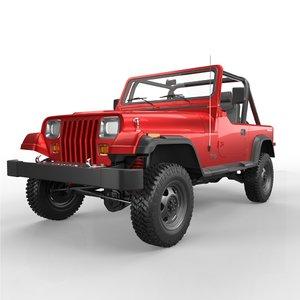 1990 jeep yj 3D
