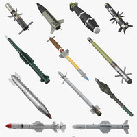 Millitary Missiles and Rockets Collection 3