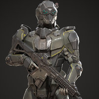 SciFi Soldier Character