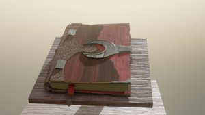 3D book stilized model