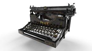 3D underwood typewriter