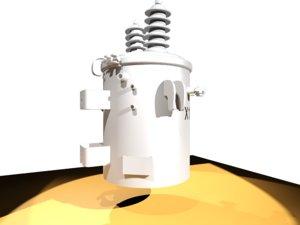 3D model 25 kva transformer
