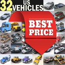 3d model cars vehicles 32 trucks