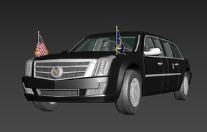 3D model cadillac presidential state car