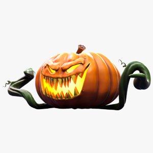 stylized halloween pumpkin 3D