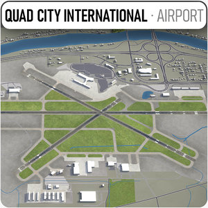3D quad international airport -