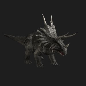 triceratops dinosaur animation 3D model