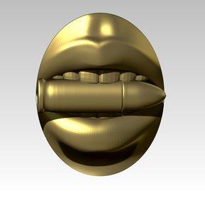 lips woman printable 3D model