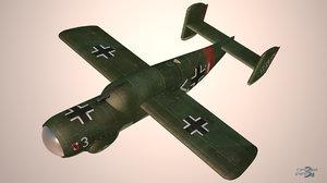 arado e 381 fighter 3D model