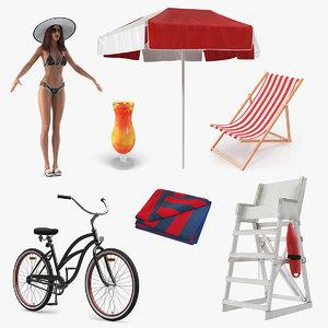 beach 5 3D model