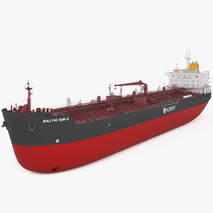 oil chemical tanker 3D model