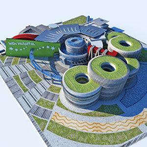 3D modern design kids hospital