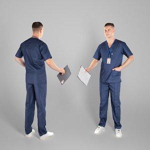 man surgeon folder 3D model