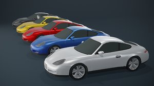 3D model coupe car generic