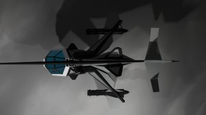 3D futuristic helicopter model