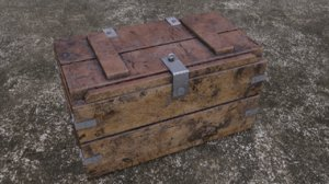 old western weapon box 3D model