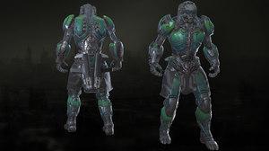 3D character death model