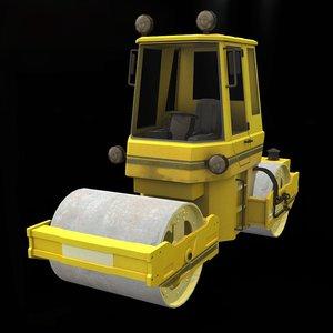 3D model asphalt roller