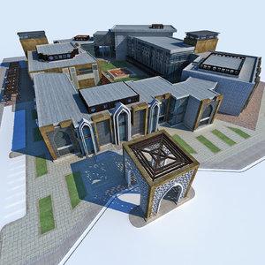 3D design modern arabic architecture