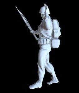 soldier ww2 printable 3D model