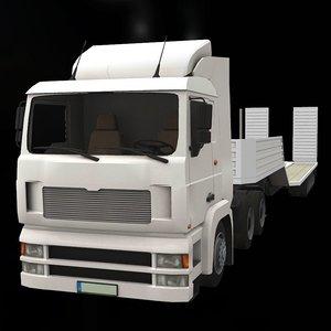3D truck car