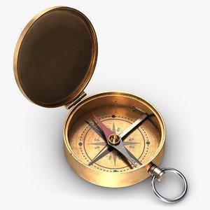 vintage compass 3 3D model