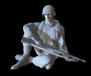3D soldier ww2 printable