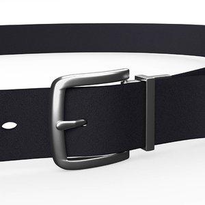 mens leather belt 3D model