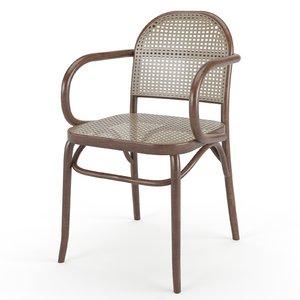chair armchair braided 3D model