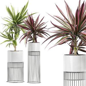 potted plants set 51 3D model