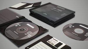 3D cds floppy disk