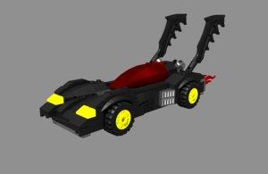 3D bat mobile lego
