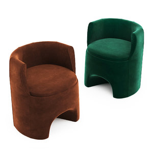 3D p22 studio lounge chairs model